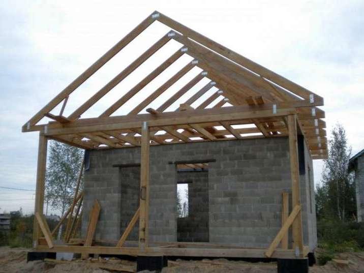 Как сделать крышу на бане из блоков своими руками