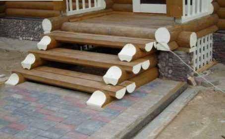 Чертеж деревянное крыльцо к дому